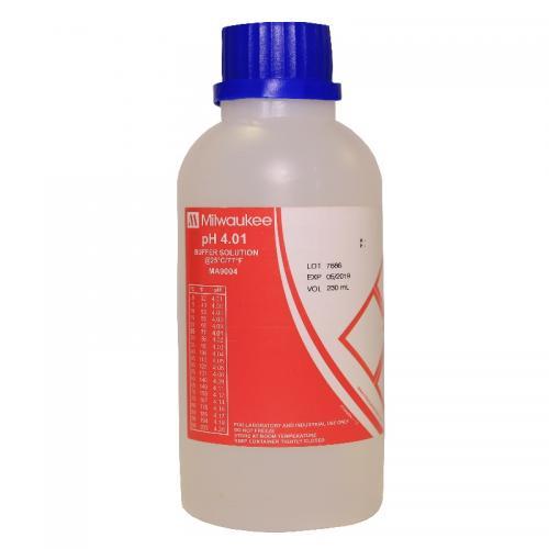 pH 4.01 Calibration Buffer Solution, 230 mL Milwaukee Буферный калибровочный раствор pH 4.01 Предназначен для настройки точности измерений pH-метров.