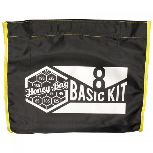 Honey Bag Basic 8x15L мешки для экстракции Набор мешков Honey-Bag Basic KIT8 для экстракции при помощи льда смол, эфирных масел и кристаллов состоит из 8 мешков по 15 литров: одного рабочего, с размером ячеек сетки 225 микрон и семи мешков фильтров с сеткой 195,160,125,85,65,45 и 25 микрон. Мешки выполнены из не пропускающей воду высокопрочной синтетической ткани со специальным покрытием. Фильтрующее дно из сетки швейцарского производителя точных микронных сит NanoLABWeave имеет высокую механическую прочность. Благодаря технологии плетения синтетических волокон с повышенной фиксацией нити, делает сито устойчивым к разрывам и растяжению.