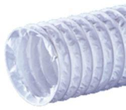 Канал вентиляционный d=125 мм/ L=1 м круглый гофрированный (ПВХ) в сетке
