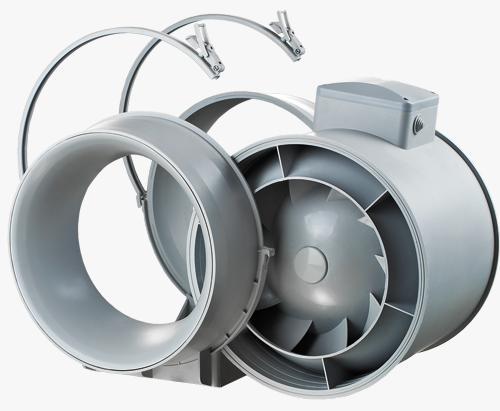 Вентиляторы ВЕНТС ТТ и ВЕНТС ТТ ПРО объединяют в себе широкие возможности и высокие характеристики осевых и центробежных вентиляторов. Используются в приточно-вытяжных системах вентиляции, которые требуют высокого давления, мощного воздушного потока и низкого уровня шума. Совместимы с воздуховодами диаметром от 100 до 315 мм.