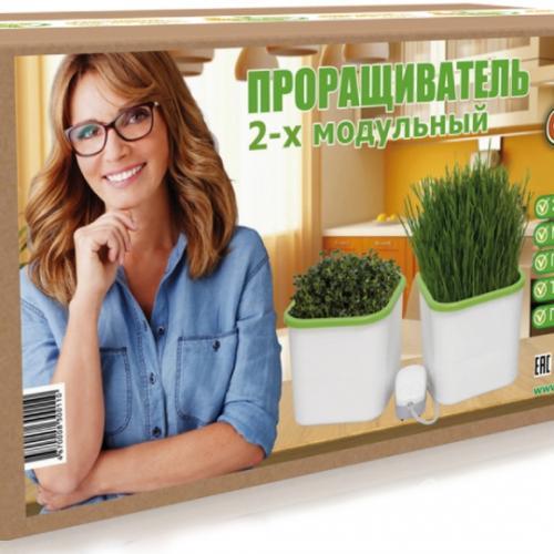 Мини гидропонная система АэроСад (2-х модульная)  Находка для любителей полезного питания, садоводов, владельцев домашних питомцев, а также для интересного хобби - гидропонного выращивания растений.