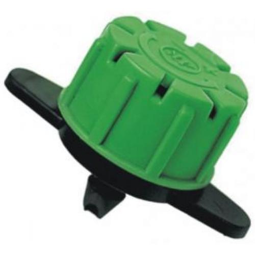 Капельница с регулировкой Green (пр-ва Болгария) - зеленая регулировка 40-120л - капельный полив - микродождевание - разбрызгивает воду на 360 градусов - устанавливается в любой шланг Регулировка простым поворачиванием по часовой стрелке