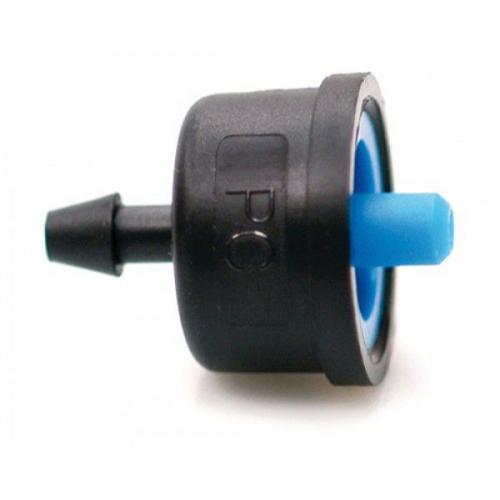 Капельница с компенсацией давления 2 л/ч . /Blue/  Irritec-Италия - капельница компенсированная с тыльным отверстием компенсированная - подает строго дозированное количество воды - благодаря съемно крышке легко провести осмотр и очистку - Капельница обеспечивает соответствующий выход воды при рабочем давлении от 1 до 3,5 бар - устанавливается непосредственно на любой трубе, шланге диаметром от 16 мм или на конце микротрубки 4-6 мм - подходит для участков с большим углом наклона