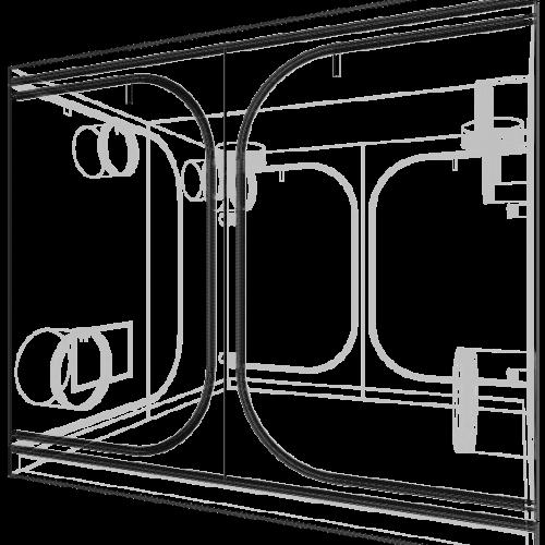 Dark Room V3.0 240x240x200 cm Профессиональный гроутент, сделан из высококачественного светоотражающего материала «Mylar». Диаметр труб каркаса 19 мм, обеспечивает непревзойденную жесткость конструкции.