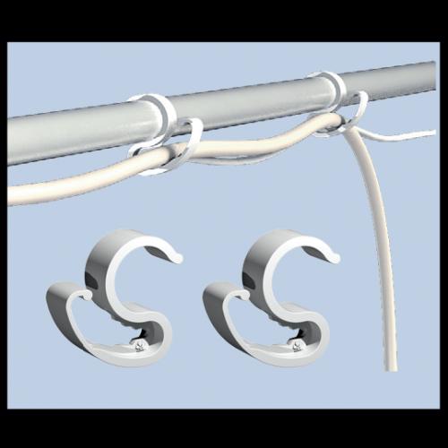 15x CableIT D19mm Пластиковые зажимы  для проводов Предназначены для фиксации кабеля внутри тент-палатки.