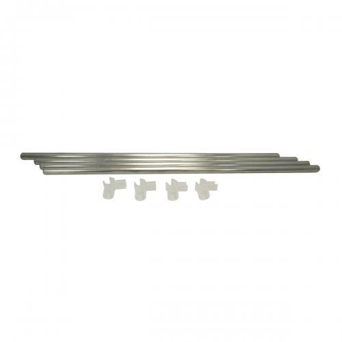 D16 mm Space Booster Kit 60 cm Комплект Space Booster Kit состоит из 4-х пластиковых уголоков-зажимов и 4-х стальных трубок.