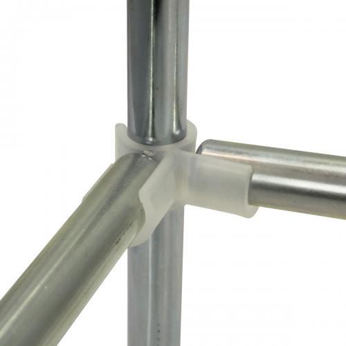 D19 mm Space Booster Kit 120 cm Комплект Space Booster Kit состоит из 4-х пластиковых уголоков-зажимов и 4-х стальных трубок.