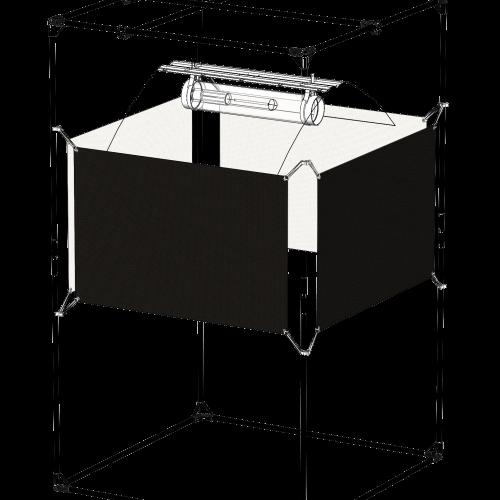 Orca The Fifty 120 x 65 cm 1 sheet Отражающий экран, сделанный из материала с высокой степенью отражения - Orca Специальный материал из белой пластиковой микрофибры позволяет растениям поглощать больше фотонов