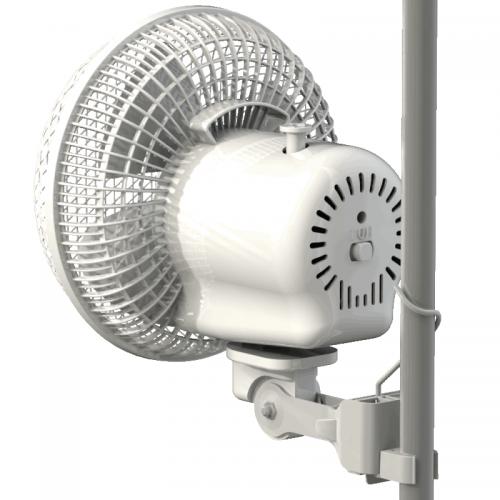 Вентилятор Monkey Fan, 20 W (двухскоростной)  Вентилятор Monkey Fan  Предназначен для обдува растений. Имеет два вида крепления - клипса и петля. Крепится к каркасным трубкам гроу-тента. Совместим с диаметром каркасных трубок от 16 до 21мм. Не соскальзывает. Легко устанавливается и регулируется.