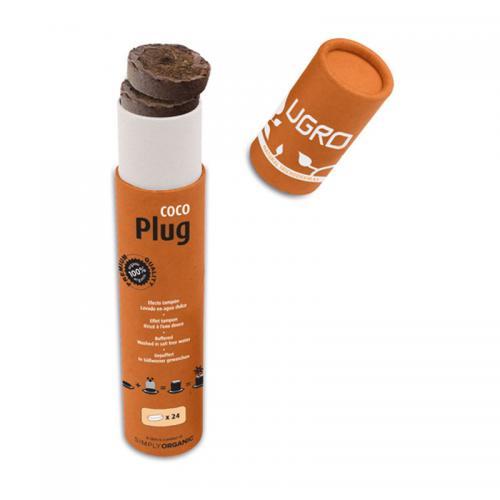 UGro Plug тубус 24 таблетки UGro Plug — это субстрат из кокосовой «пыли» с низким содержанием кокосовых волокон, спрессованный в форме 24-х небольших дисков, обернутых в тонкую бумажную оболочку. Диски Plug просты в использовании и идеально подходят для высадки семян. Упаковка UGro Plug специально разработана для удобного и длительного хранения кокосовых дисков.