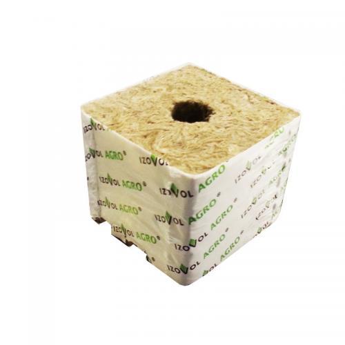 Кубик минеральной ваты 75*75*65 1 отверстие 26*30 Кубики «Агрос» — это здоровая корневая система, сильное растение с хорошим балансом вегетативного и генеративного развития, легкое управление процессами роста: