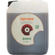 Стимулятор цветения TopMax BioBizz 5 L ТopMax – 100% органический усилитель цветения тройного действия: увеличивает размер и вес цветочных гроздьев, обеспечивает приятный сладкий вкус плодов, способствует поглощению растением питательных веществ. Специально разработан для использования с почвенными смесями Biobizz.