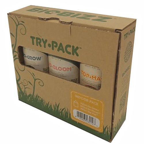Стартовый набор органических удобрений Try pack Indoor 0.25 L Если вы хотите культивировать растения в домашних условиях и не знаете с чего начать, комплект BioBizz Indoor Pack поможет вам! Низкая цена, высочайшее качество, легкое применение, и профессиональный результат. Вы можете легко комбинировать BioBizz Indoor Pack с любыми продуктами BioBizz, добиваясь наивысших результатов! Комплект рассчитан на 1-4 растения.