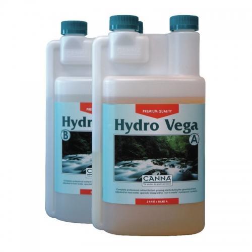 CANNA Hydro Vega A+B, 1 L (hard water) Двухкомпонентное удобрение для стадии вегетации при выращивании в нереверсивных гидропонных системах. Разработано для жесткой воды.