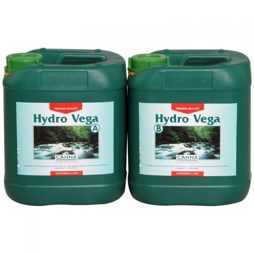 Двухкомпонентное удобрение для стадии вегетации CANNA Hydro Vega A+B, 5 L (soft water) Двухкомпонентное удобрение для стадии вегетации при выращивании в нереверсивных гидропонных системах. Разработано для мягкой воды.