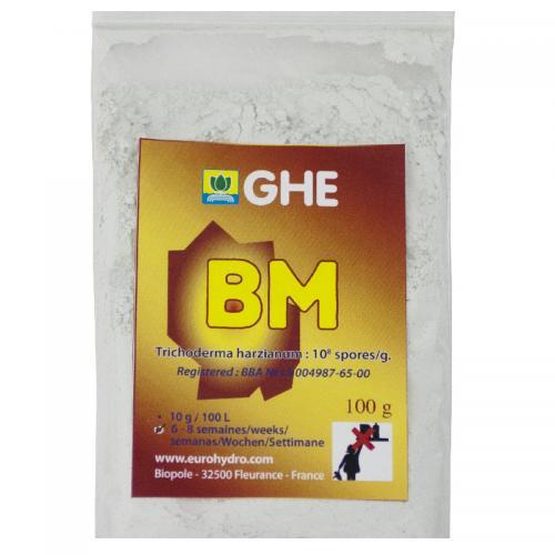 Bioponic Mix 10G GHE  (t°C) BM содержит бактерии Trichoderma. - Воспроизводит естественные почвенные процессы в гидропонике, - защищает корни растений от болезнетворных патогенов. - способствует росту растений.
