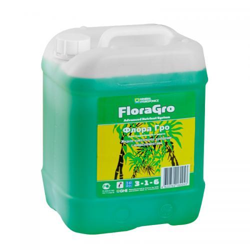 FloraGro GHE 10 L (t°C) FloraGro - обеспечивает растение Азотом (N), Калием (K), Магнием (Mg) и дополнительным минералами, стимулируя бурное развитие внутренней и внешней структуры растения на вегетативной стадии.