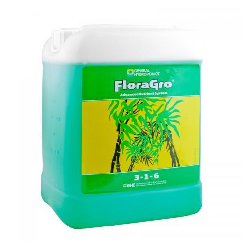 FloraGro GHE 5 L (t°C) FloraGro - обеспечивает растение Азотом (N), Калием (K), Магнием (Mg) и дополнительным минералами, стимулируя бурное развитие внутренней и внешней структуры растения на вегетативной стадии.
