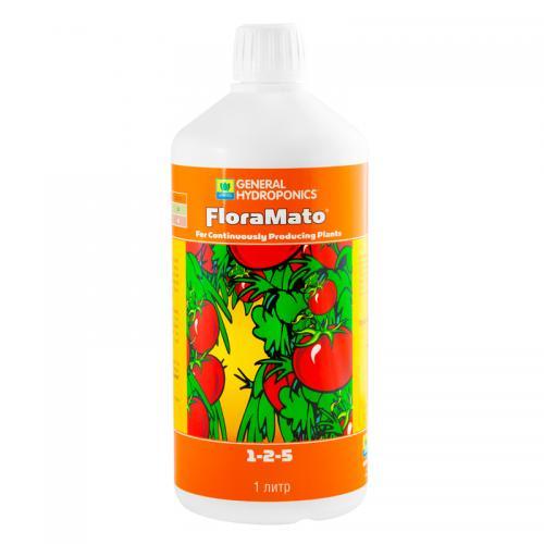 FloraMato GHE 1 L (t°C) FloraMato – концентрированное жидкое удобрение. Создано для улучшения вкуса, увеличения урожайности и полноценной аккумуляции полезных питательных элементов таких плодовых культур как помидоры, огурцы, перцы, бобы, дыни, арбузы, клубника и пр.