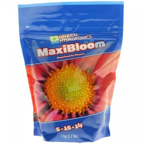 MaxiBloom 1кг Удобрение для стадии цветения. Минеральное сухое удобрение MaxiBloom улучшает качество и количество урожая, стимулируя обильное цветение и плодоношение растений. Maxi Series – минеральное двухкомпонентное сухое удобрение, поддерживающее растение от начала роста до конца цветения. Два компонента MaxiGro и MaxiBloom – непревзойденный дуэт, растворим в воде, содержит все необходимые макроэлементы, второстепенные питательные вещества и микроэлементы.