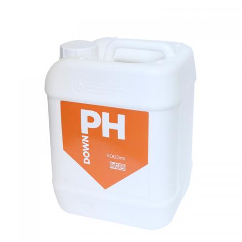 pH Down E-MODE 5 L (t°C) Понизитель уровня pH раствора Препарат предназначен для повышения рН раствора или воды.